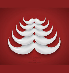 Modern concept santa mustache and christmas vector