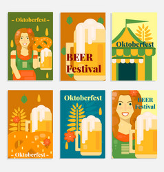 Oktoberfest banners and cards in flat style vector