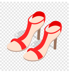 pair of high heel red female shoes isometric icon vector image vector image