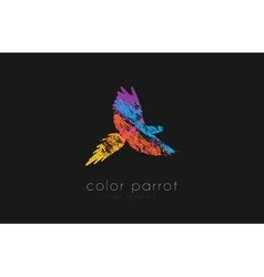 Parrot logo design color parrot bird logo vector