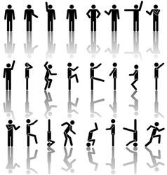 people symbols vector image vector image