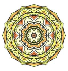 Round kaleidoscopic ornamental background vector