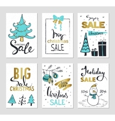 Set of creative sale holiday website banner vector image vector image