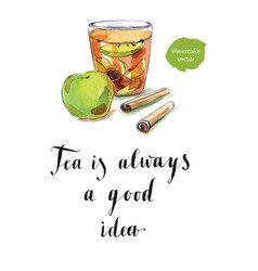 tea is always a good idea vector image vector image