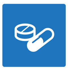 Thin line medical capsule icon vector