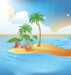 tropical rain vector image vector image