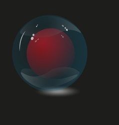 Two glass sphere vector