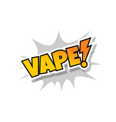 Vaporizer electric cigarette vapor mod - vape life vector