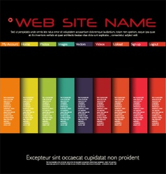 Web site colorful design template vector image