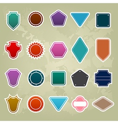 set of Colorful Promotional stickers vector image