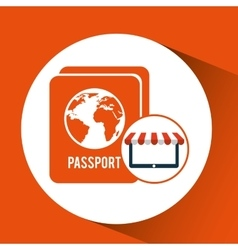 e-commerce travel password icon design vector image