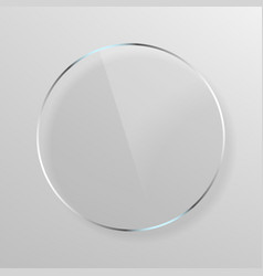 round transparent plate vector image