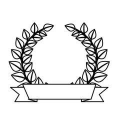 Wreath leafs crown emblem vector