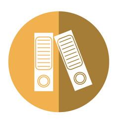 Folder document archive folio office shadow vector