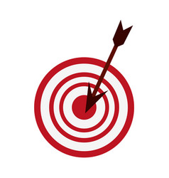 Target or bullseye with arrow icon image vector