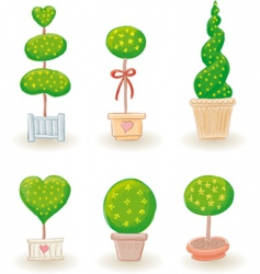 garden trees vector image