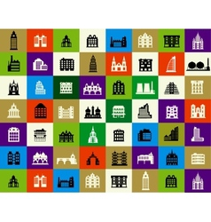 Silhouettes of city buildings vector