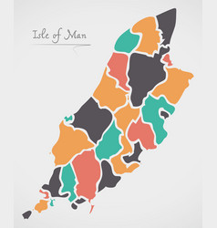Isle of man map with states vector