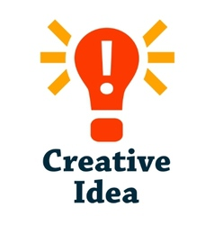 Creative idea icon vector