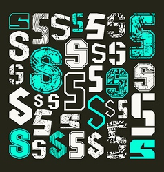 Set versions of letters s vector