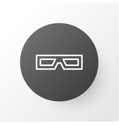 3d glasses icon symbol premium quality isolated vector image