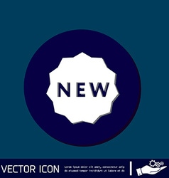 Label new symbol of the new icon novelty vector