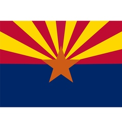 Flag of the us state of arizona vector