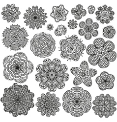 Set of creative flowers for your design vector