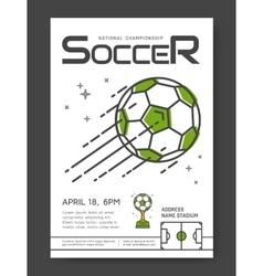 Soccer championship poster vector