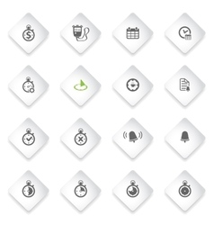 Time simply icons vector
