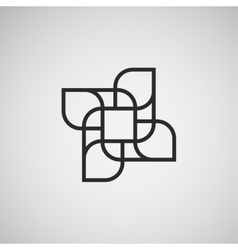 Abstract figures template design vector