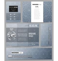 Set of templates for presentation brochure flyer vector