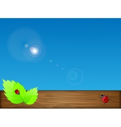 green leaves and sky vector image