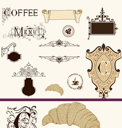 Vintage coffee set vector image