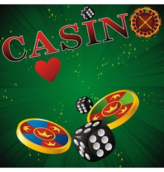 casino card vector image