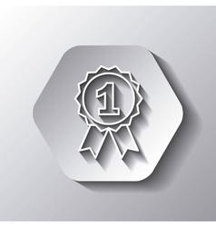 Seal stamp icon winner design over hexagon vector