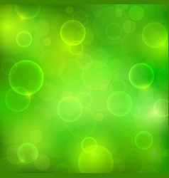 Abstract green background with magic lights vector