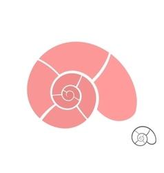 Abstract shell logo design template vector