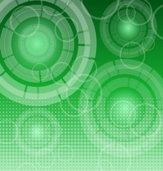 Abstract technology on green background vector