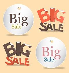 Big Sale Labels - Tags Set vector image