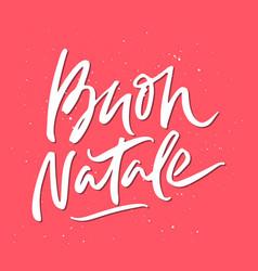 Buon natale christmas lettering vector