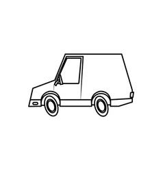Car transport delivery commerce comic line vector