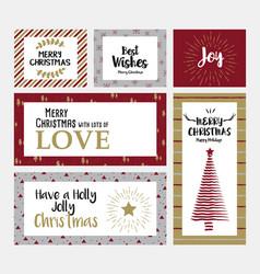 Christmas cards design vector