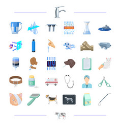 Clinic animal hygiene and other web icon in vector