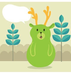 Deer Talk vector image