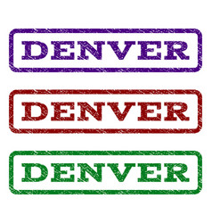 denver watermark stamp vector image vector image