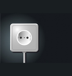 electric european outlet on the wall white vector image vector image