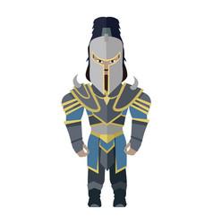 fantasy knight character vector image vector image