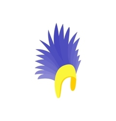 Feathers hat icon isometric 3d style vector