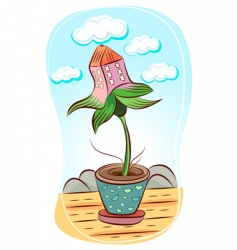 flower illustration vector image vector image